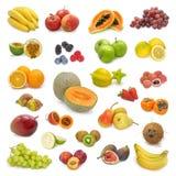 Coleção misturada 2 das frutas fotografia de stock