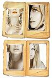 Coleção modelo de Grunge Imagens de Stock