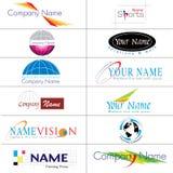 Coleção moderna dos logotipos Imagens de Stock