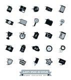 Coleção movente rápida dos ícones Imagem de Stock Royalty Free