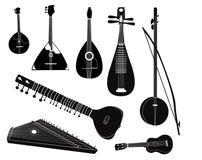 Coleção musical do instrumento da listra Foto de Stock