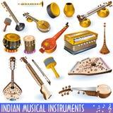 Coleção musical indiana Fotos de Stock Royalty Free