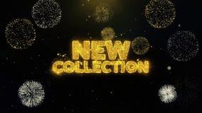 Coleção nova escrita as partículas do ouro que explodem a exposição dos fogos de artifício