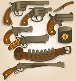 Coleção ocidental selvagem dos braços ilustração stock