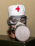 Coleção original de máscaras de gás soviéticas ex (de URSS) Fotografia de Stock