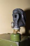 Coleção original de máscaras de gás soviéticas ex (de URSS) Fotografia de Stock Royalty Free