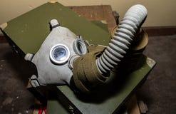 Coleção original de máscaras de gás soviéticas ex (de URSS) Fotos de Stock