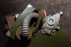 Coleção original de máscaras de gás soviéticas ex (de URSS) Imagens de Stock Royalty Free