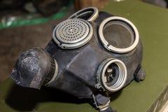 Coleção original de máscaras de gás soviéticas ex (de URSS) Imagens de Stock