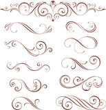 Coleção ornamentado dos motivos Imagem de Stock