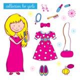 Coleção para meninas ilustração do vetor