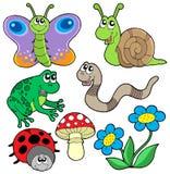 Coleção pequena 2 dos animais ilustração stock