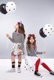 Coleção pequena da roupa da menina do vestido bonito Fotos de Stock