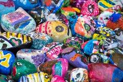 Coleção pintada da rocha Imagens de Stock