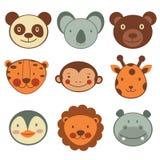 Coleção principal animal dos ícones Foto de Stock Royalty Free