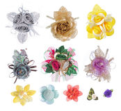 Coleção realística artificial da flor Imagens de Stock Royalty Free