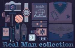 Coleção real do homem ilustração royalty free