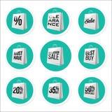 Coleção relativa à promoção das etiquetas da venda Fotos de Stock Royalty Free