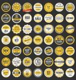 Coleção retro dos crachás da qualidade superior Imagens de Stock Royalty Free
