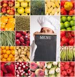 Coleção saudável do menu Fotografia de Stock