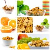 Coleção saudável do pequeno almoço Fotos de Stock Royalty Free