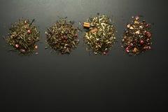Coleção seca dos chás e das ervas Fotografia de Stock Royalty Free