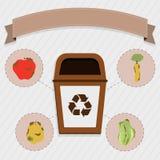 Coleção seletiva do alimento biológico ilustração do vetor