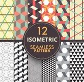 coleção sem emenda isométrica do teste padrão 12 patt sem emenda isométrico Imagem de Stock Royalty Free