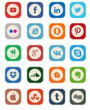 Coleção social do ícone dos meios Imagens de Stock