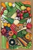 Coleção super saudável do alimento Imagens de Stock