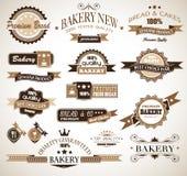 Coleção superior do estilo temático do vintage da padaria ilustração royalty free