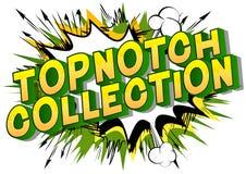Coleção Topnotch - frase do estilo da banda desenhada no fundo abstrato ilustração stock