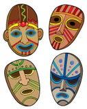 Coleção tribal das máscaras Imagem de Stock Royalty Free