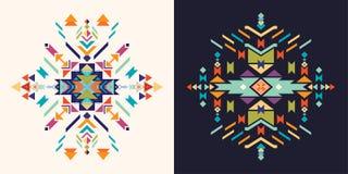 Coleção tribal dos cartões Imagens de Stock
