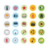 Coleção universal colorida dos ícones ilustração royalty free