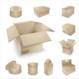 Coleção vazia da embalagem do vetor. Fotografia de Stock