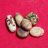 Coleção velha antiga dos grânulos Fotografia de Stock