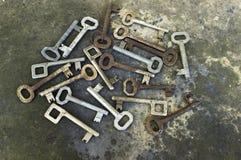 Coleção velha das chaves Fotos de Stock