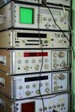 Coleção velha do equipamento da metrologia em privado o 23 de novembro de 2014 Imagem de Stock Royalty Free
