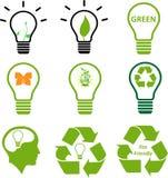 Coleção verde da imagem do símbolo da energia Imagem de Stock Royalty Free