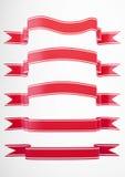 Coleção vermelha 2 da bandeira Imagem de Stock Royalty Free