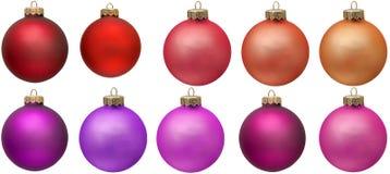 Coleção vermelha do ornamento do Natal. imagens de stock royalty free