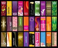 Coleção vertical da bandeira ilustração stock