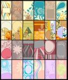 Coleção vertical dos cartões Fotos de Stock