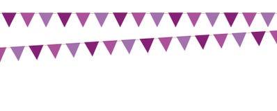 Coleção violeta da bandeira isolada no backgound branco ilustração do vetor