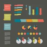 Coleções de diagramas lisos do projeto do infographics. Imagem de Stock