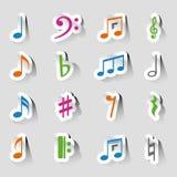 Coleções de notas da música ilustração stock