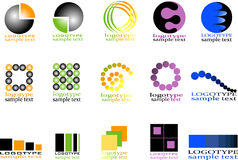 Coleções do logotype Imagem de Stock Royalty Free