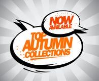 Coleções superiores agora disponíveis do outono Imagem de Stock