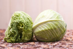 Cole and chinese cabbage closeup Stock Image